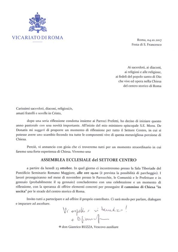 Assemblea ecclesiale (2017) Convocatoria